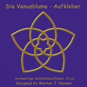 Die Venusblume - Goldfolienaufkleber 21cm