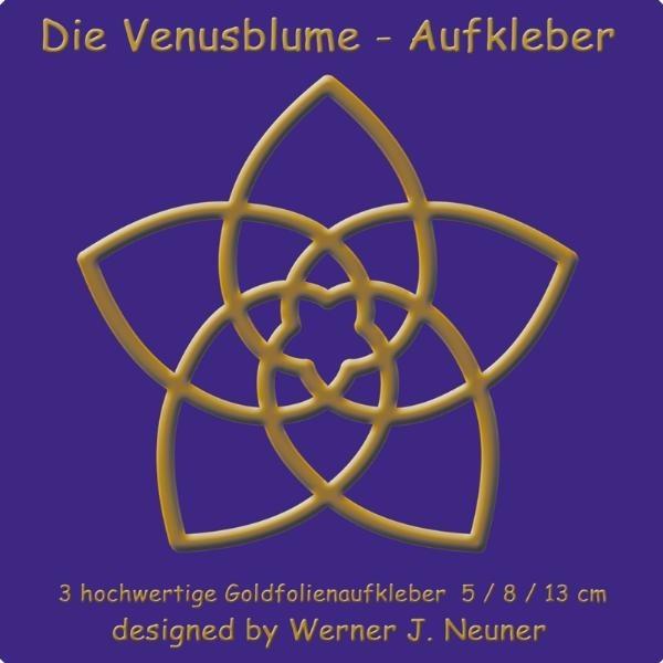 Die Venusblume - Goldfolienaufkleber 3er Set